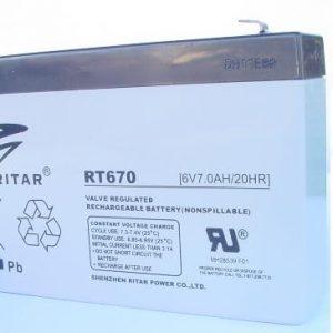 מצבר נטען / סוללה נטענת LEAD ACID TP 6V 7AH