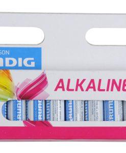מארז 12 סוללות אלקליין AAA סידרה לבנה גרונדיג