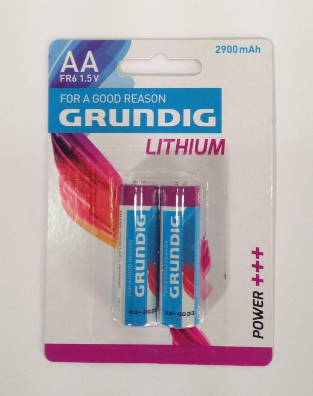 זוג סוללות AA ליתיום 1.5V סידרה לבנה גרונדיג