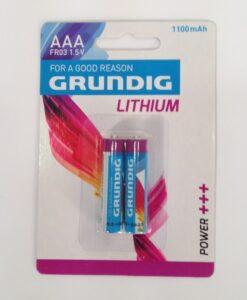 זוג סוללות AAA ליתיום סידרה לבנה גרונדיג