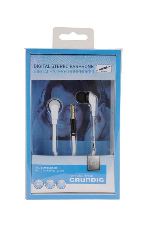 אוזניות סיליקון בתוך האוזן כבל שטוח לבן גרונדיג