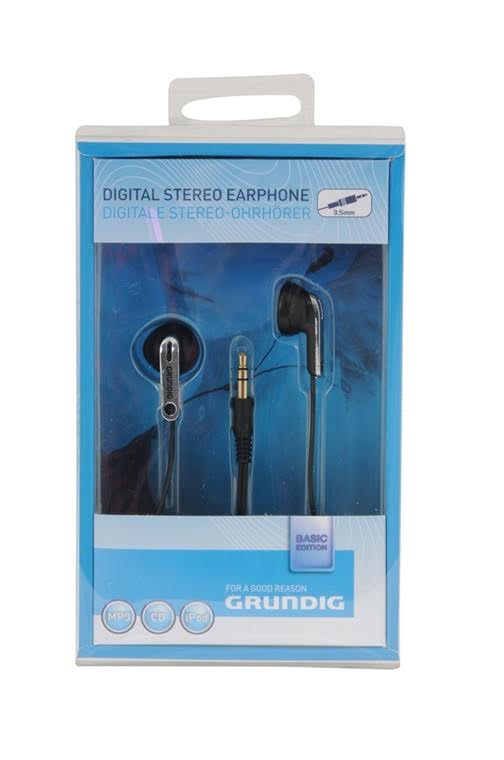 אוזניות כפתור בתוך האוזן שחור/כרום גרונדיג