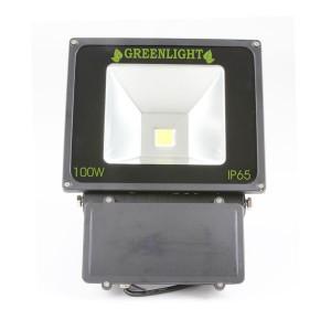 פרוז'קטור לד 100W תאורת הצפה לד LED Floodlight 12v צבע לבן +חיישן (גלאי) תנועה