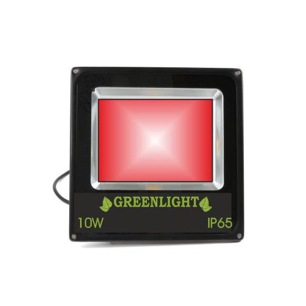 פרוז'קטור לד 10W תאורת הצפה לד LED Floodlight 12v צבע אדום