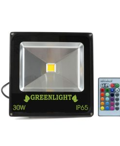 פרוז'קטור לד 30W תאורת הצפה לד LED Floodlight 12v צבע לבן+קונטרולר