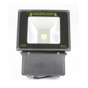 פרוז'קטור לד 70W תאורת הצפה לד LED Floodlight 12v צבע לבן+חיישן (גלאי) תנועה